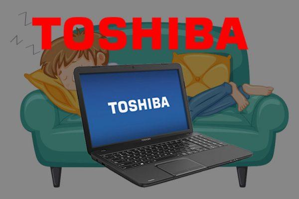 toshiba laptop stuck in sleep mode
