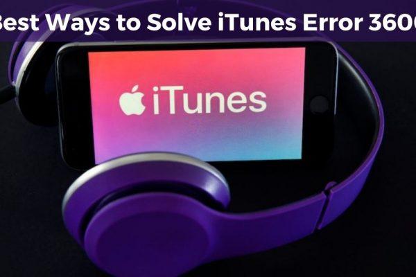 iTunes Error 3600