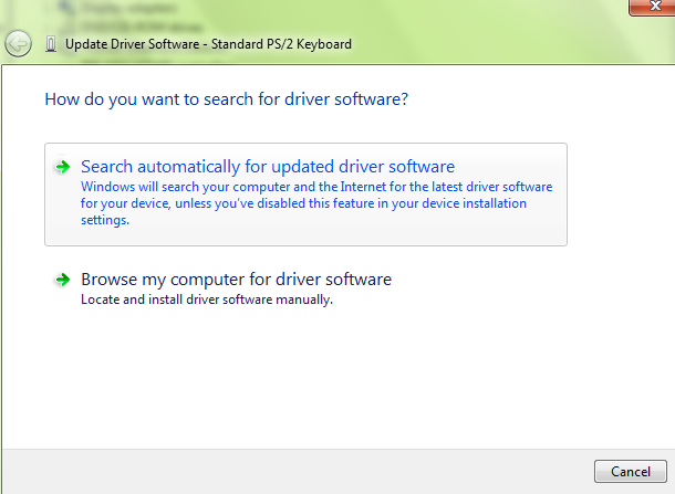 Update driver of PS/2
