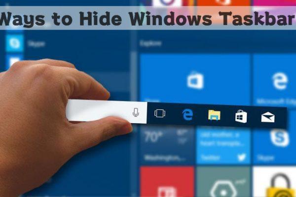 Ways to hide windows taskbar