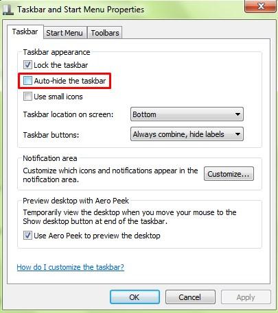 Autohide Taskbar