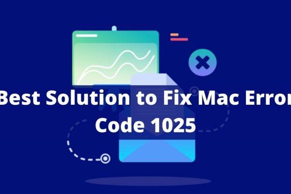 Mac error code 1025