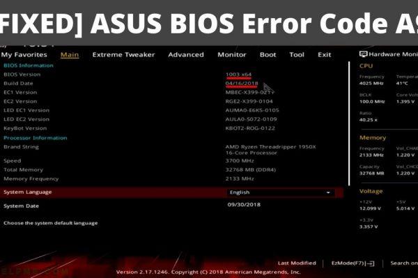 asus bios error code a9