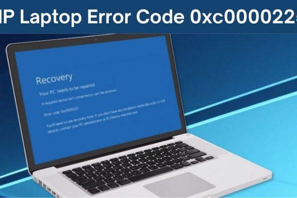 hp laptop error code 0xc0000225
