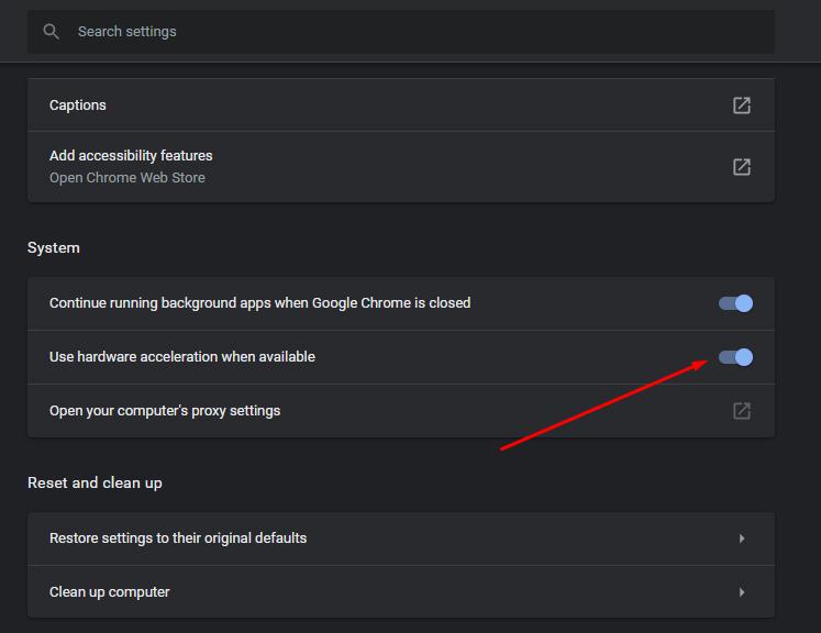 Chrome Hardware Acceleration