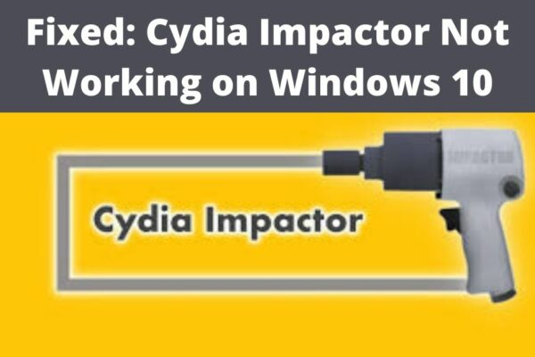 cydia impactor not working