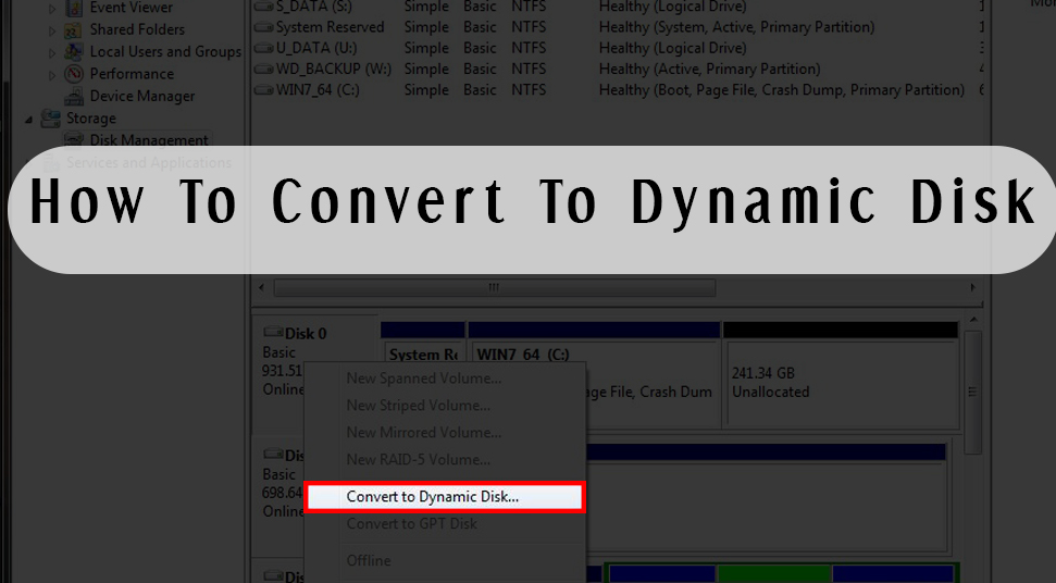 How To Convert To Dynamic Disk