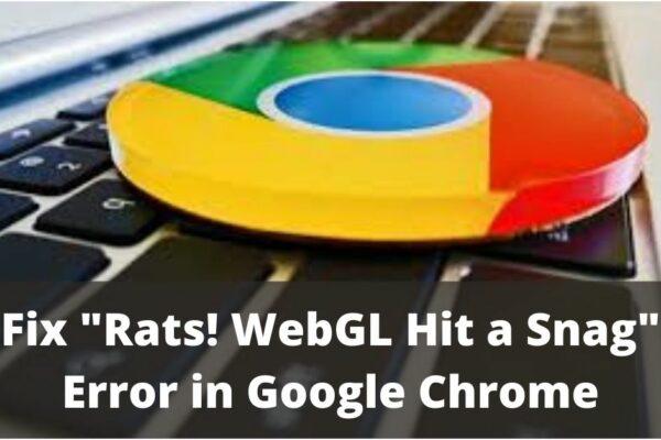 WebGL Hit A Snag