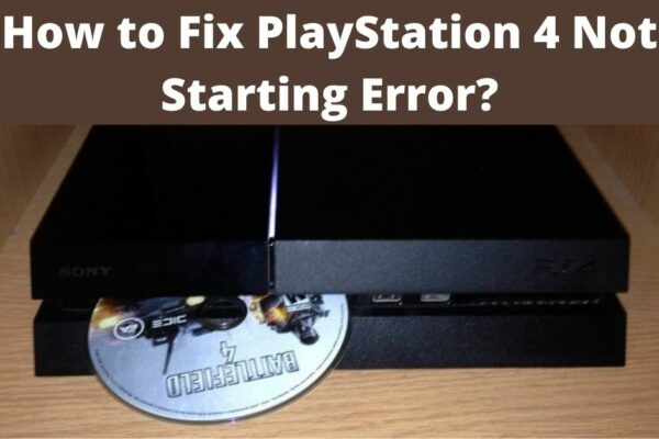 cannot start the ps4