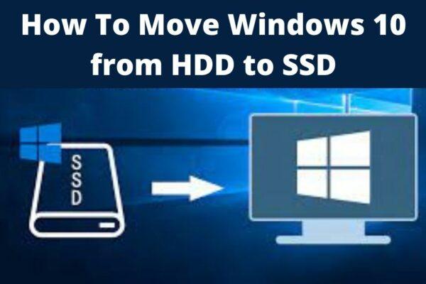 Windows 10 to SSD