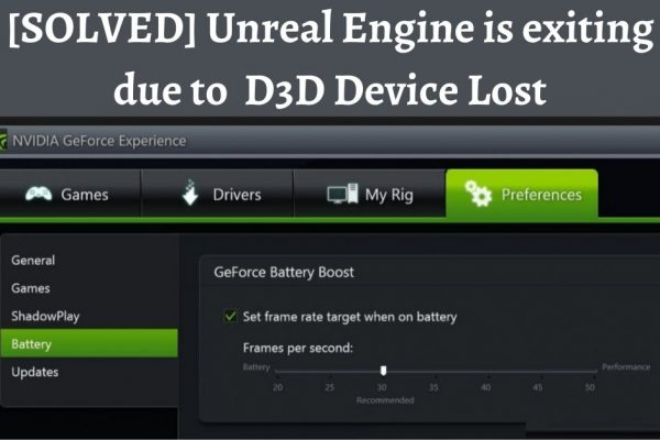 D3D device lost